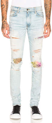 Amiri MX1 Rainbow Bandana Jean in Super Light Indigo | FWRD