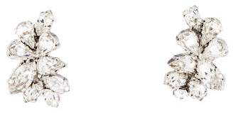 Christian Dior Crystal Petal Earrings