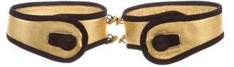 Prada Metallic Leather Cuffs