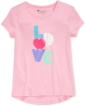 Champion Love Glitter Graphic-Print T-Shirt, Toddler & Little Girls (2T-6X) $16 thestylecure.com