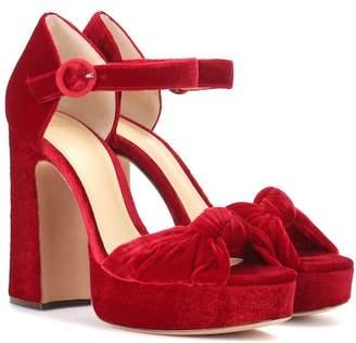 Alexandre Birman Velvet plateau sandals