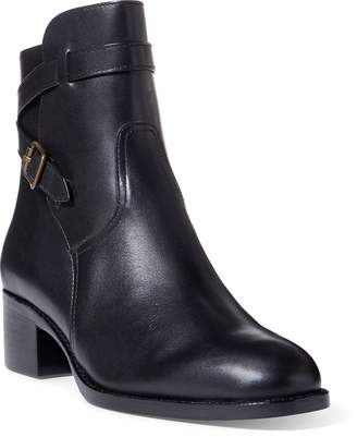 Ralph Lauren Mollie Leather Ankle Boot