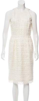 Carmen Marc Valvo Sequin-Accented Lace Dress