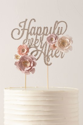 May Contain Glitter Happily Ever After Cake Topper