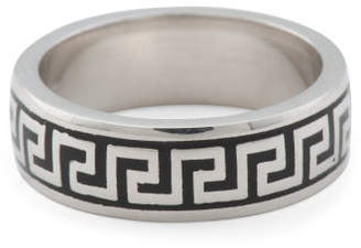 Made In Turkey Sterling Silver Greek Key Band Ring