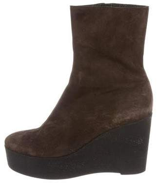 Robert Clergerie Suede Wedge Boots