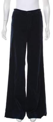 J Brand Velour Flared Pants