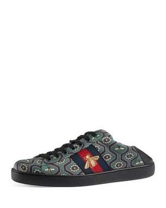 Gucci New Ace Bee-Print Sneaker, Multicolor $620 thestylecure.com