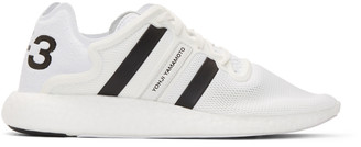 Y-3 White Yohji Run Boost Sneakers $320 thestylecure.com