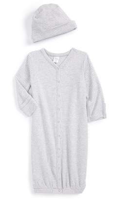 Nordstrom Convertible Cotton Gown & Hat