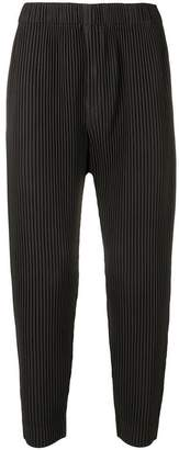 Issey Miyake Homme Plissé tapered plisse trousers