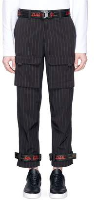 Daily Paper 'Calno' pinstripe belted cargo pants