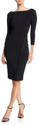Chiara Boni Long-Sleeve Hook-&-Eye Dress