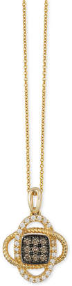 LeVian Le Vian Chocolatier® Diamond Pendant Necklace (1/4 ct. t.w.) in 14k Gold