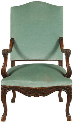 One Kings Lane Vintage 19th-C French Louis XVIII-Style Armchair - Blink Home Vintique