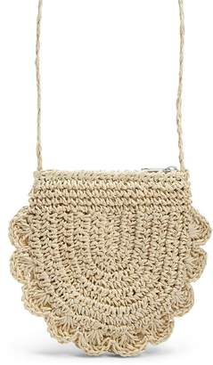 Forever 21 Girls Scalloped Straw Bag (Kids)
