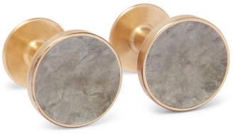 Alice Made This Bayley Gold-Tone Luna Patina Cufflinks