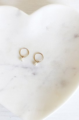 Lily Ashwell Gold Hoop Earring with Pearl