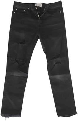 April 77 Black Cotton Jeans for Women