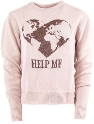 Alberta Ferretti Pink Cashmere Sweater