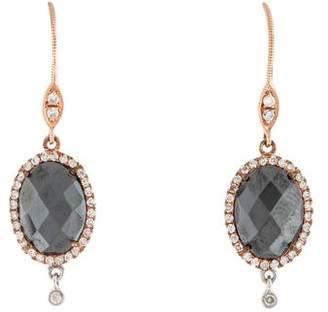Meira T 14K Hematine & Diamond Drop Earrings