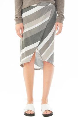 Alternative Apparel Jersey Wrap Skirt $70 thestylecure.com