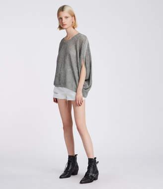 AllSaints Levita Twist Knit Top
