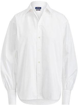 Polo Ralph Lauren Broadcloth Boyfriend Shirt $125 thestylecure.com
