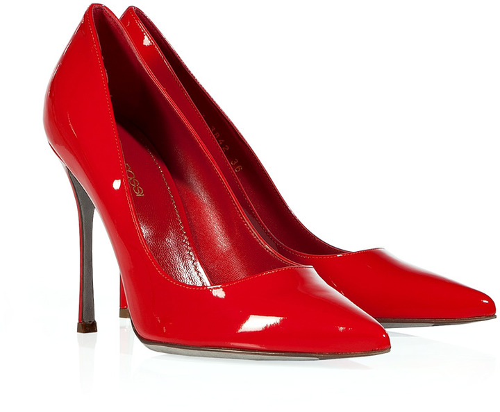 Sergio Rossi Flamenco Patent Leather Stilettos