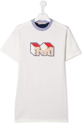 Marni letter print t-shirt dress