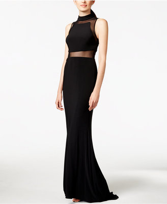 Betsy & Adam Sleeveless Illusion Gown $189 thestylecure.com