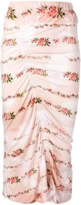 Preen by Thornton Bregazzi floral print ruched pencil skirt