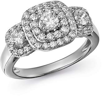 Bloomingdale's Diamond Halo Ring in 14K White Gold, 1.0 ct. t.w - 100% Exclusive