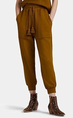 Ulla Johnson Women's Emere Tasseled-Drawstring Terry Sweatpants - Olive