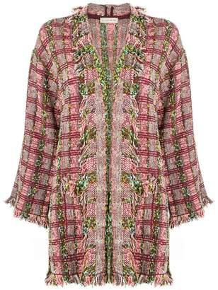 Etro frayed tweed cardigan