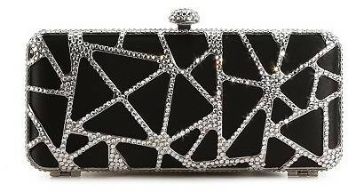 Townsend Lulu Cut Out Rhinestone Metal Box Clutch