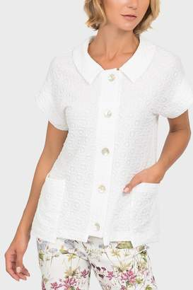 Joseph Ribkoff White Short-Sleeve Top
