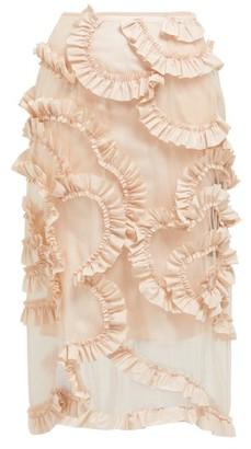 Simone Rocha 4 Moncler Ruffled Tulle Skirt - Womens - Light Pink
