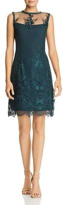 Nanette Lepore nanette Sleeveless Illusion Embroidered Dress