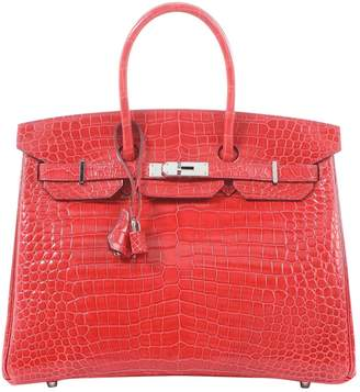 Hermes Birkin 35 Red Crocodile Handbag