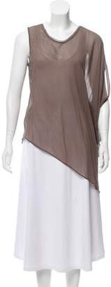 Helmut Lang One-Shoulder Silk Top w/ Tags
