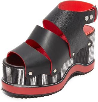 Proenza Schouler Platform Sandals $1,095 thestylecure.com
