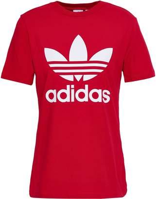 adidas (アディダス) - Adidas Originals プリント コットン混 ジャージー Tシャツ