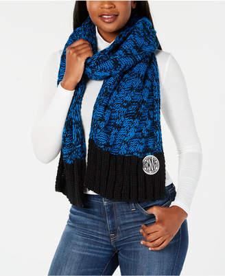 DKNY Two-Tone Chunky Knit Scarf