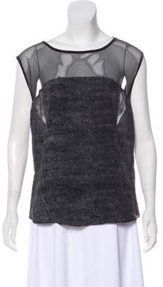 AllSaints Printed Short Sleeve Top
