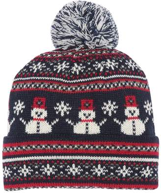 David & Young Snowmen & Snowflakes Beanie