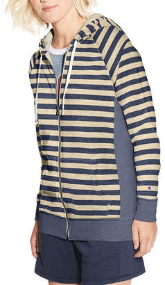 Champion Long Sleeve French Terry Stripe Hoodie