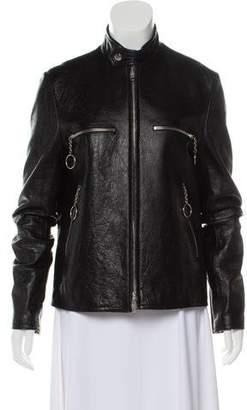 Balenciaga Leather Moto Jacket w/ Tags