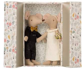 Maileg 3-Piece Wedding Mice Couple in Box