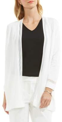 Vince Camuto Sheer Stripe Cardigan